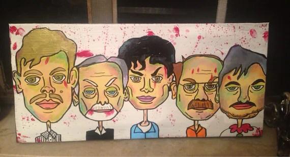 Serial Killer Parade painting Dahmer Gacy