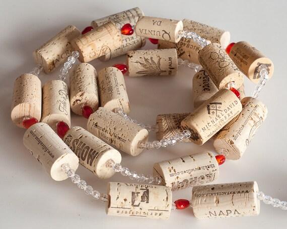 Wine Cork Garland Valentines Decor Valentines Gift Wedding