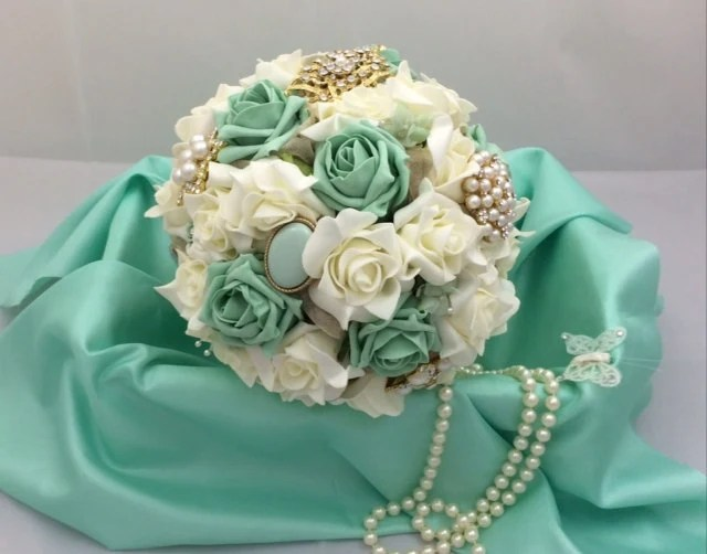 Wedding Bouquet Shabby Chic Brooch And By Lovefromlilywedding