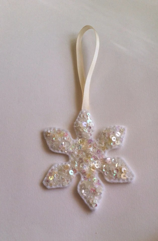 Made with sparkle x sparkling sequin snowflake decoration  - LittleBirdHouse