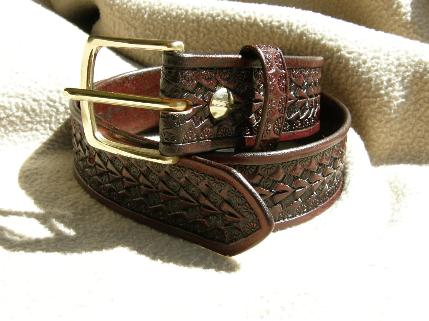 Hand Tooled Leather Belts Name