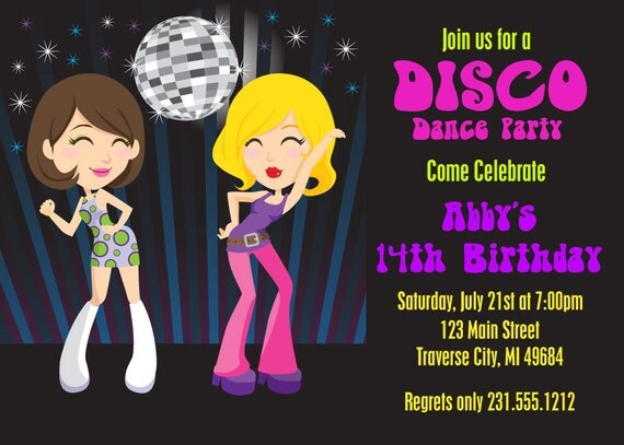 Printable Disco Invitations