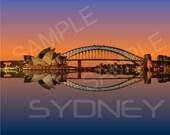 Sydney,Silhouette, Skylin...