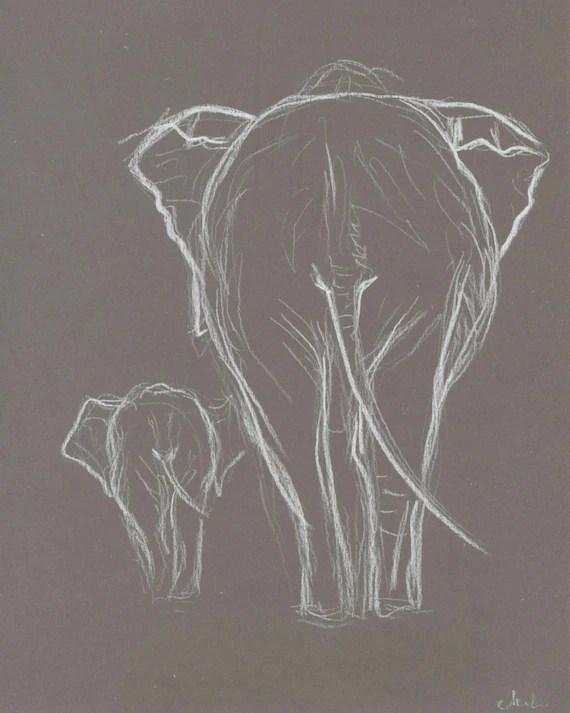 Wall Art Elephants