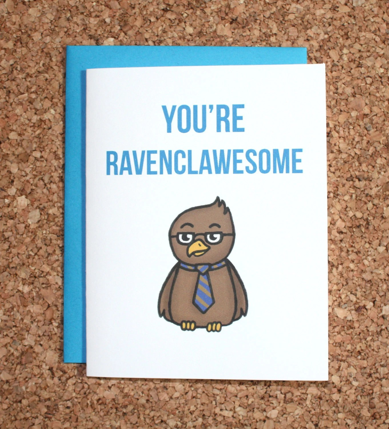 Harry Potter Card Ravenclaw Youre Ravenclawesome