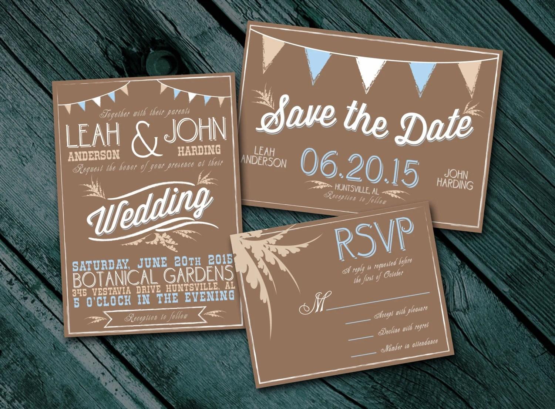 Rustic Wedding Invitations Cheap