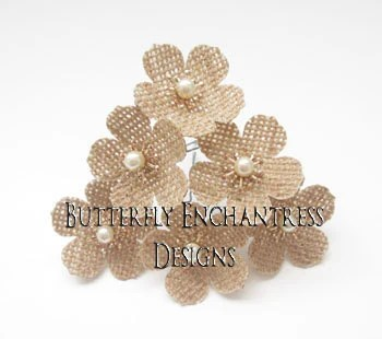 woodland hair accessories rustic burlap wedding bridal