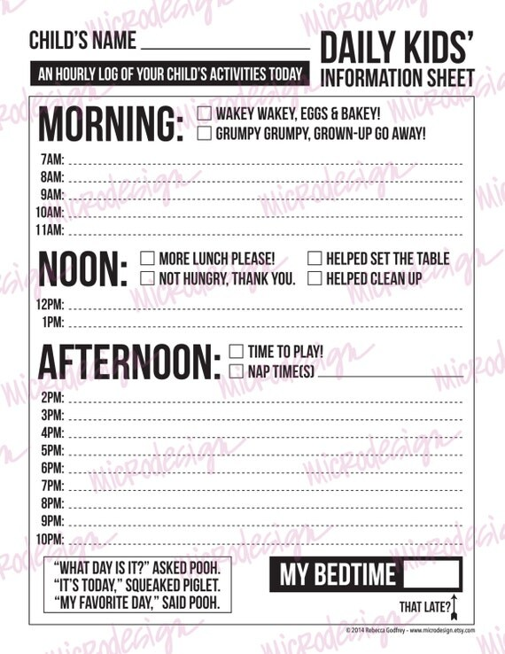 Wedding Party Contact List Printable