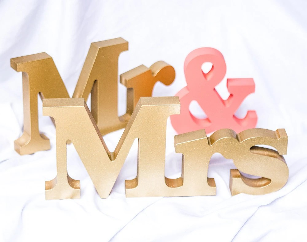 Wedding Signs Mr And Mrs Signs Mr And Mrs Letters For
