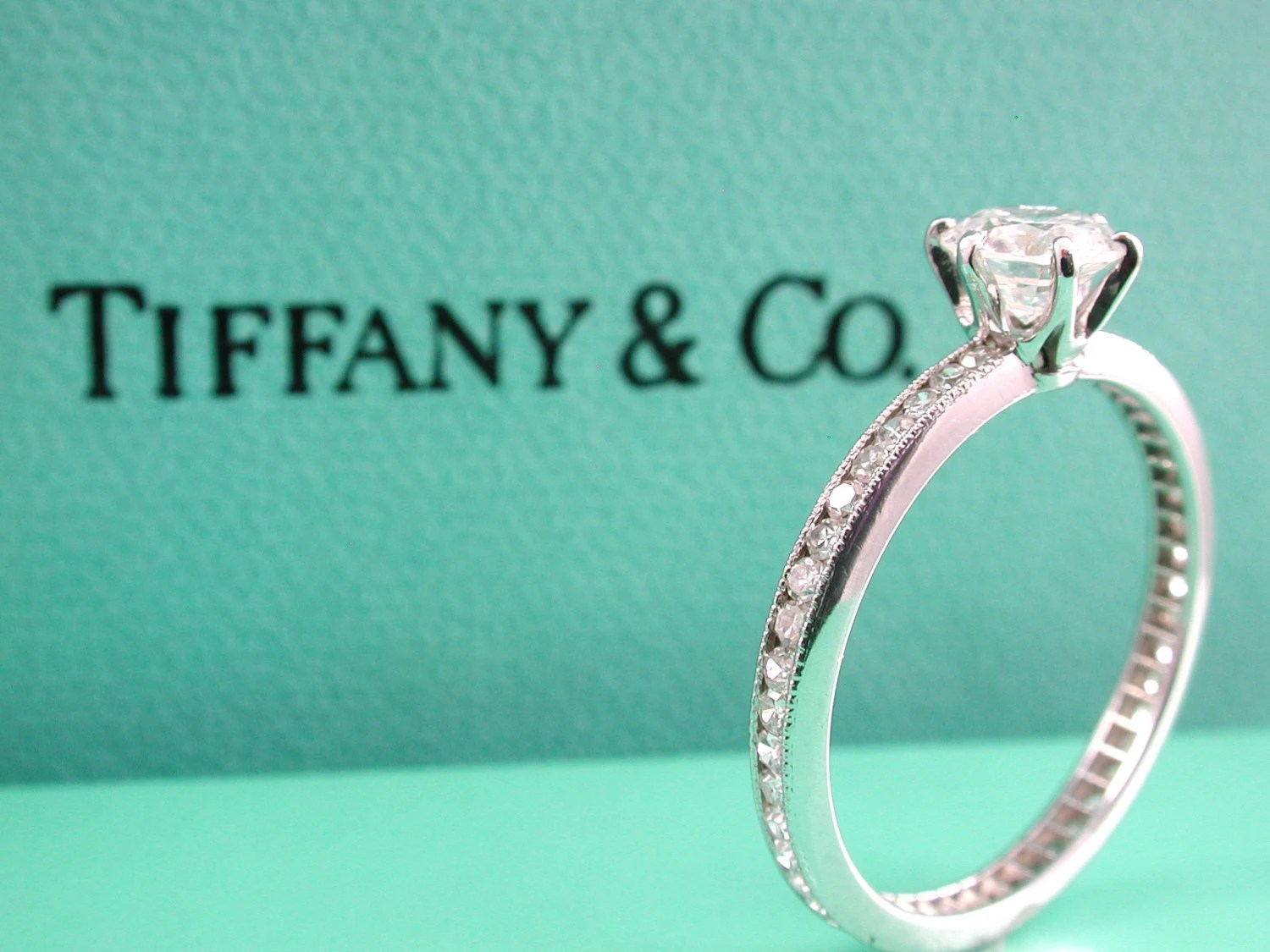 RESERVED For Beau Tiffany Eternity Engagement Ring