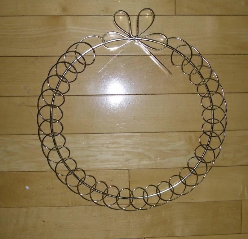 Vintage Metal Wreath With Bow Card Holder Christmas Wreath