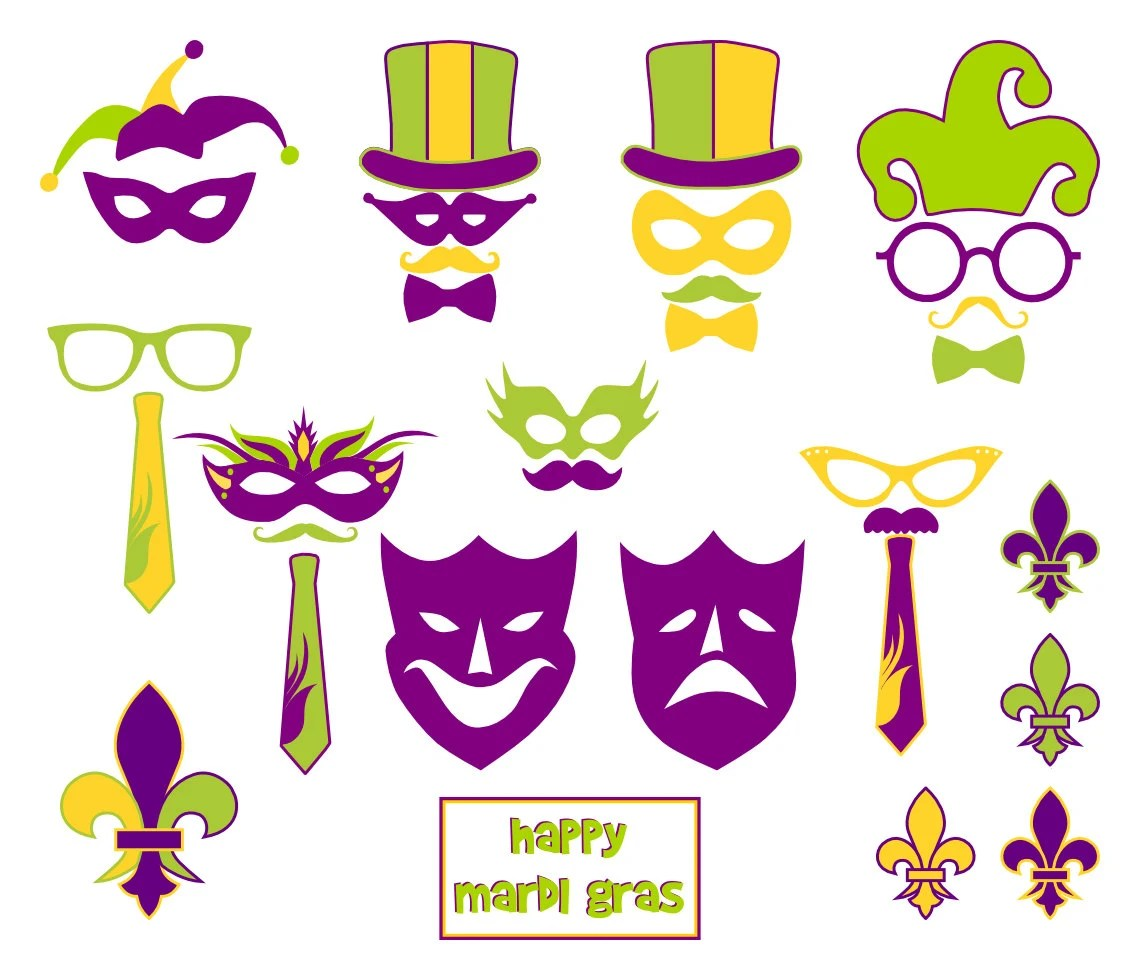 Mardi Gras Printable Photo Booth Props By Bcreativedesignarts