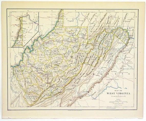 Original Map Virginia Counties