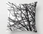 Black Tree Branches Pillow Cover -Black and White - Modern Home Decor - By Aldari Home - Halloween