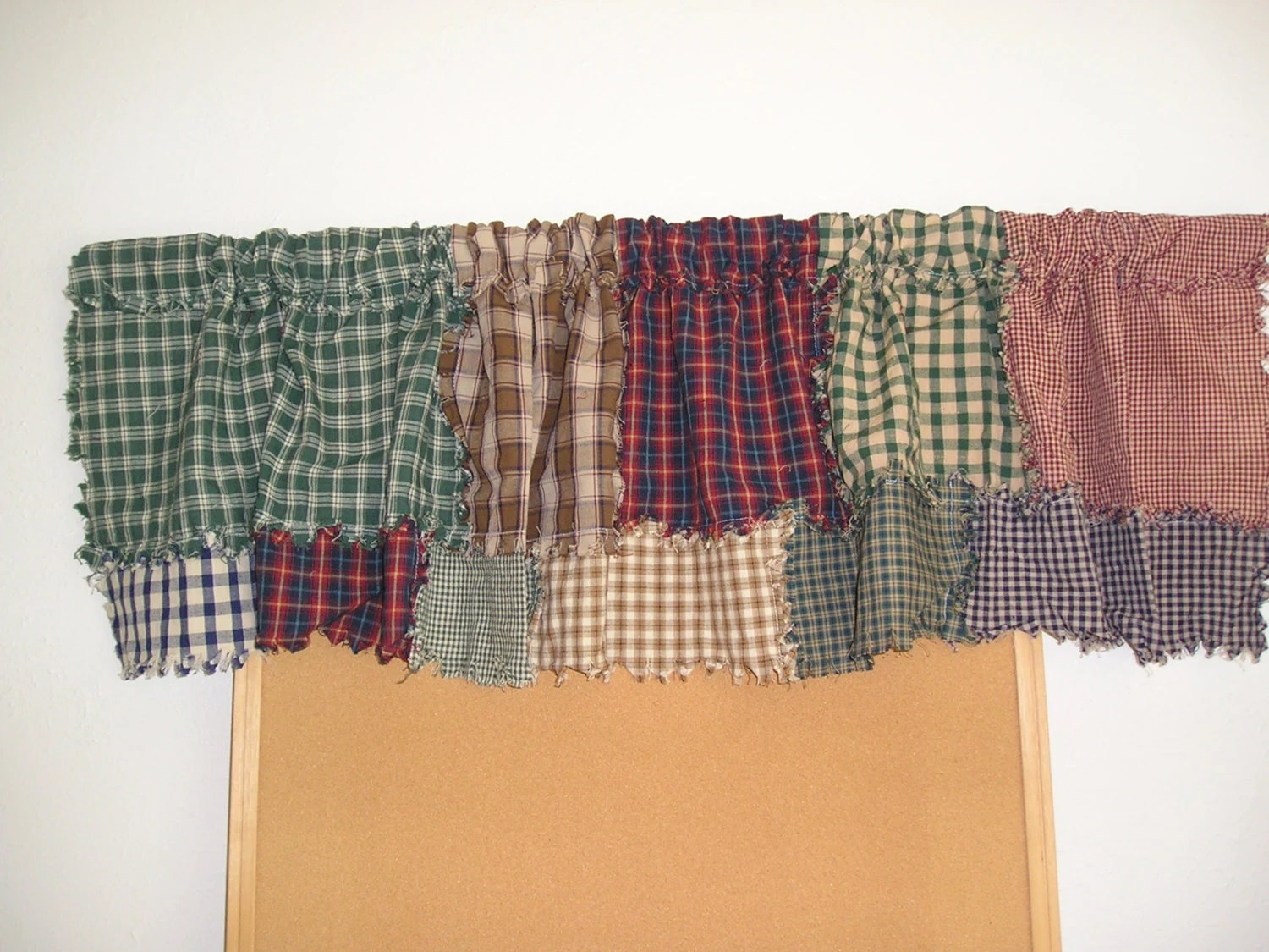 Primitive Country Curtain Valance Rag Like Hand By