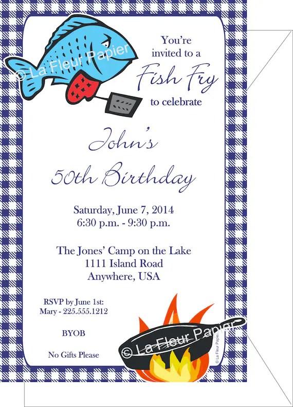 Party Invitation Wording Fishing