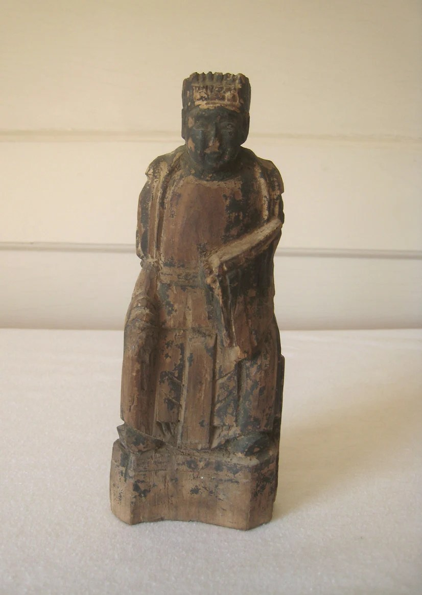 Carved Wood Statue Antique Chinese