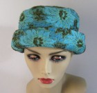 Tapestry  Hat Turquoise Flower