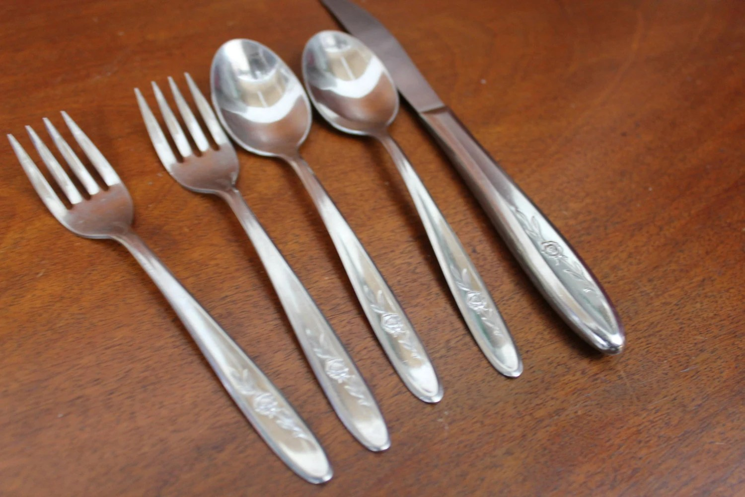 PROVINCIAL ROSE from SEARS FaSHION Stainless Silverware ...