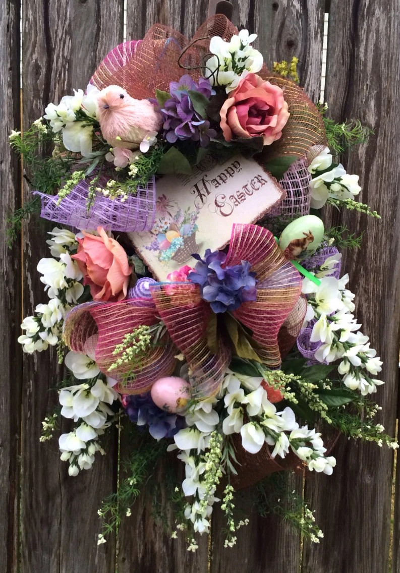 Easter Swag Spring Swag Easter Wreath Spring Wreath Easter