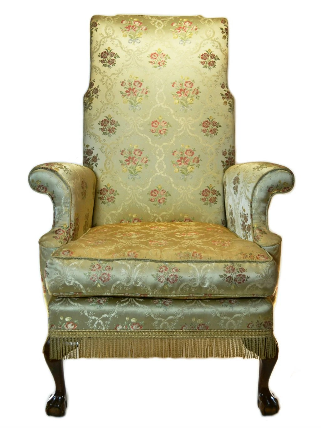 Cosy upholstered wing armchair vintage english 1920s for Cosy armchair
