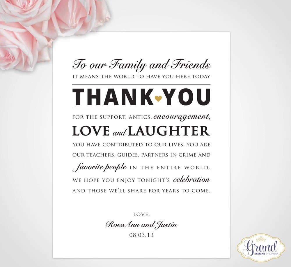 Thank You Engraving Quotes