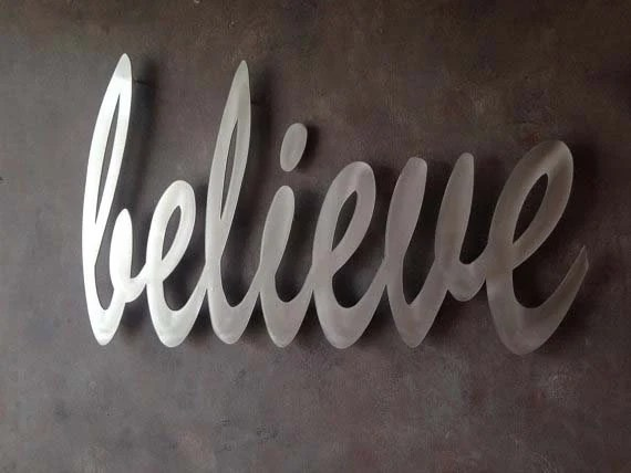 Believe Metal Wall Art Wall Quotes Wall Art By INSPIREMEtals