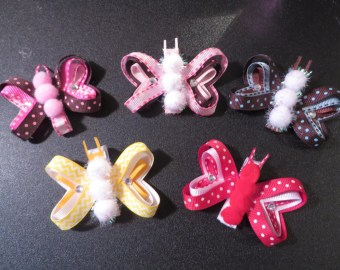 items similar to adorable white butterfly hair clips on etsy
