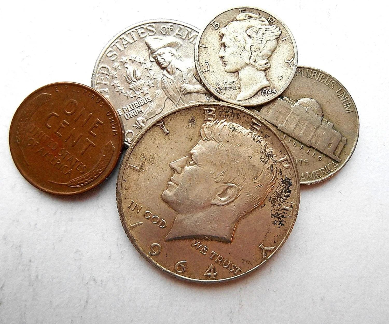 Us Coin Set Kennedy Half Dollar Silver Mercury Dime