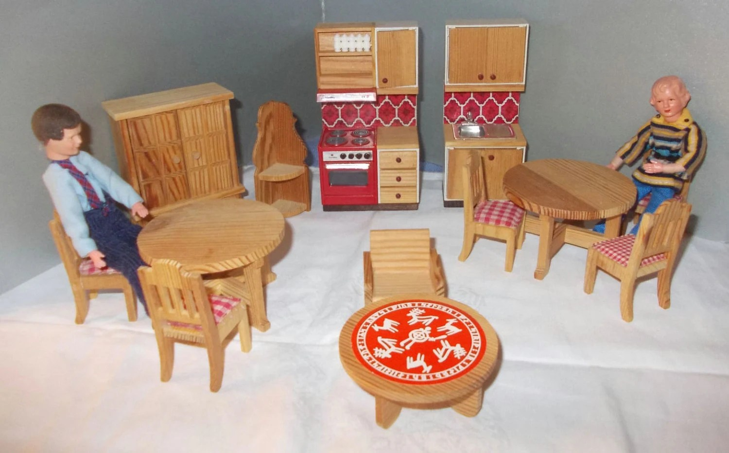 70s doll house furniture convolute 15 pieces lundby for 70s wooden couch