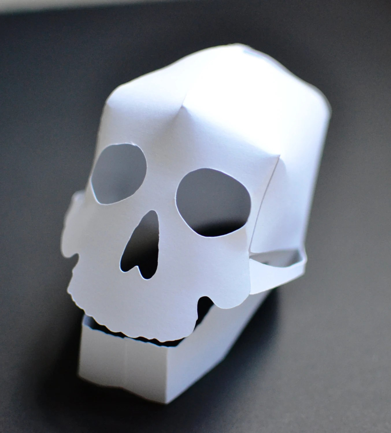 DIY 3D Paper Skull Craft Kit Kids Craft Kit Halloween