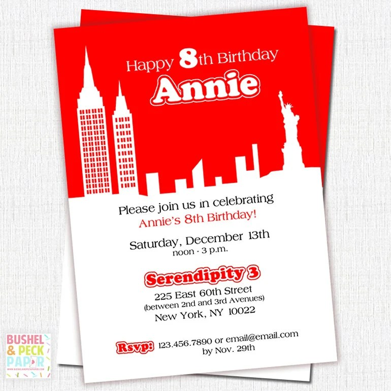 Custom Invitations Nyc