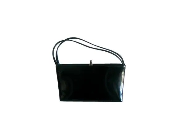 Patent Leather Purse Cloth Handles