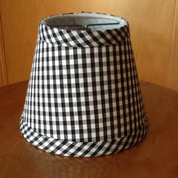 Black And White Check Lamp Shades