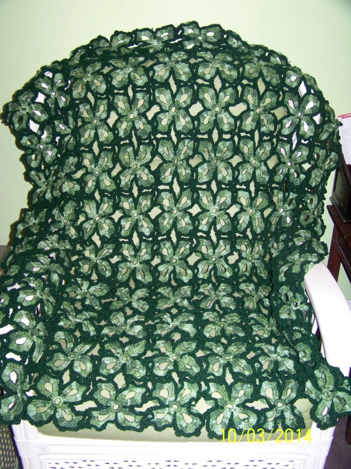 Large Irish Four Leaf Clover Throw Green Tones And Hunter