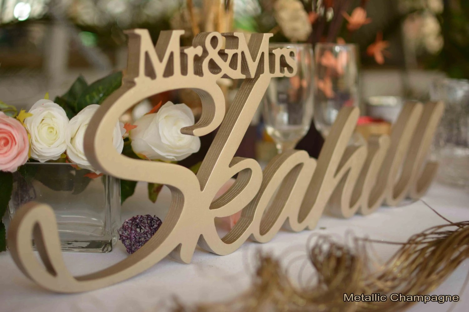 Mr And Mrs LAST NAME Wedding Wedding Sign Mr & Mrs Last By