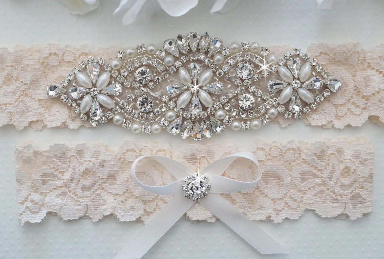 Wedding Garter Set Bridal Garter Set Vintage Lace Garter