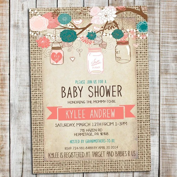 Customize Your Own Baby Shower Invitations