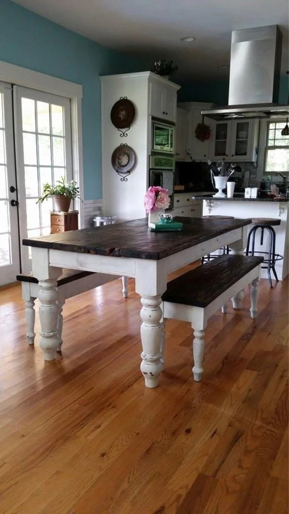 Antique Heart Pine Rustic Distressed 6 5 Foot Farmhouse Table