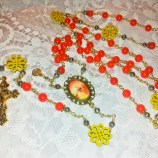St Michael  & Sacred Heart with Sunflowers and Poppy jade