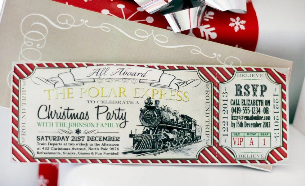 Printable Xmas Invitations