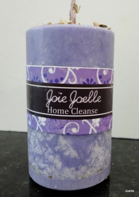 Home Cleanse Purple Pillar Spell Aromatherapy Candle for protection, exocrism, power, remove negativity, banishing, potency