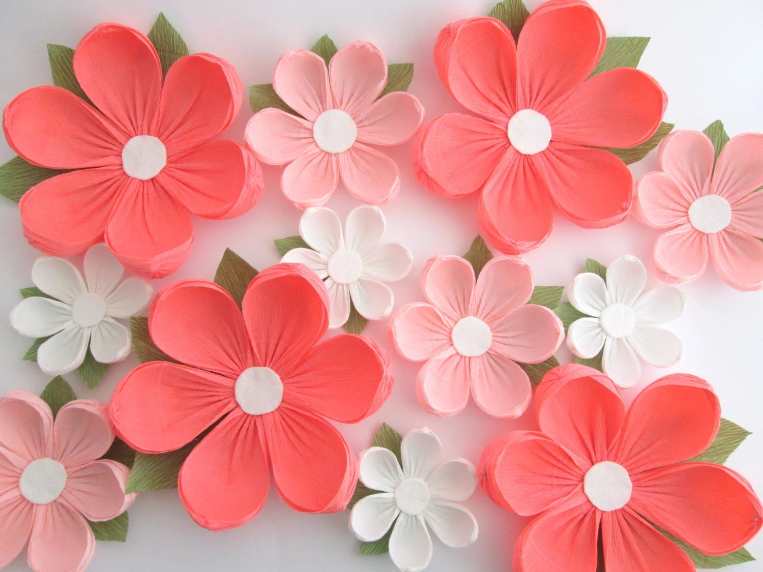 12 Paper Flowers/ Wall Flowers/ Arch Flowers/ Wedding