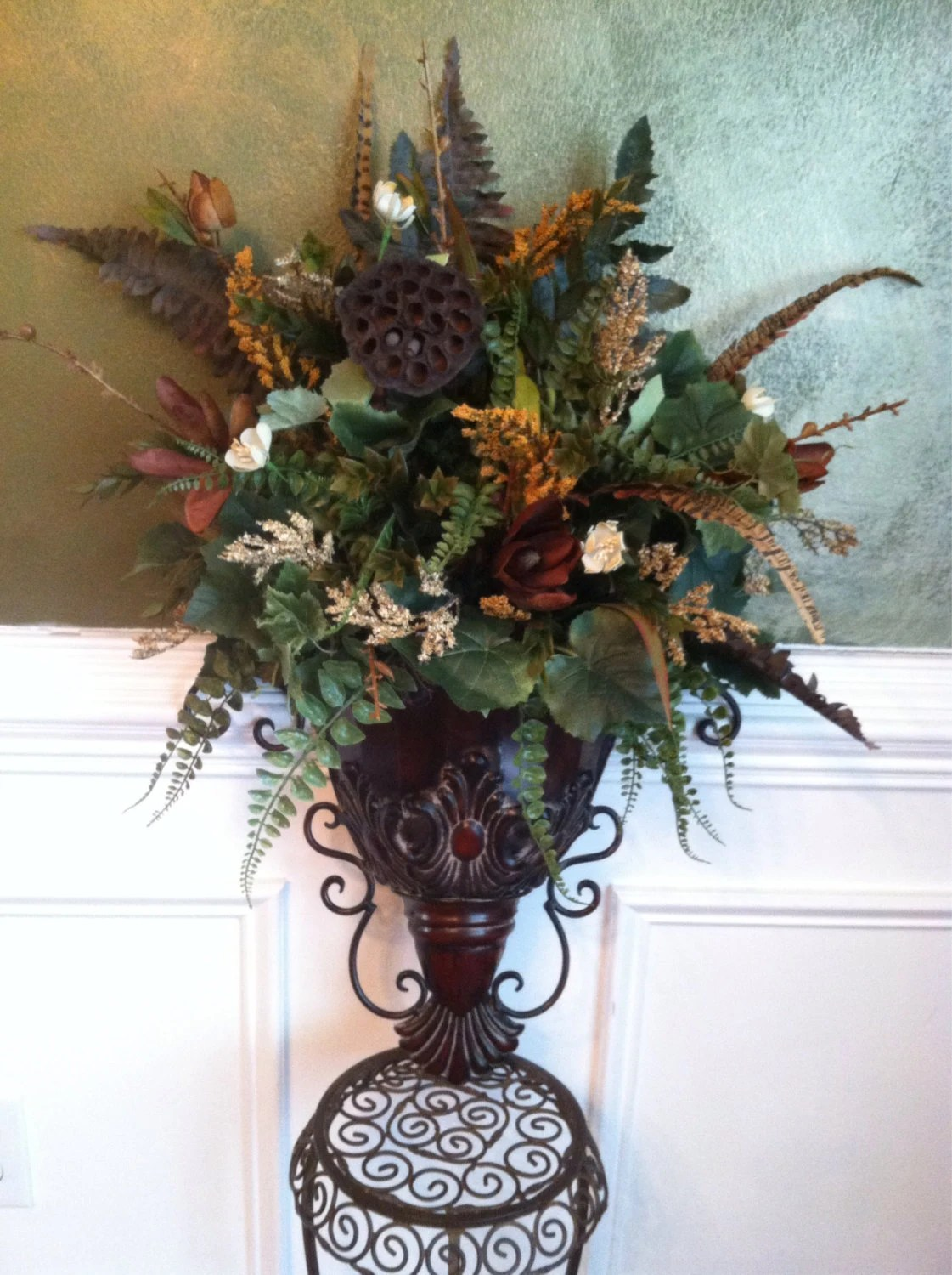 Elegant Traditional Italian Old World Decor by ... on Wall Sconce Floral Arrangements Arrangement id=57937
