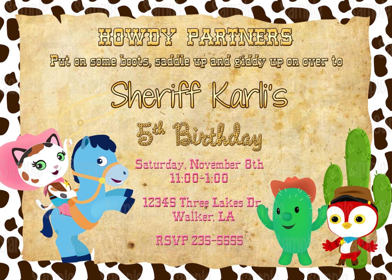 Printable Sheriff Callie S Wild West Birthday Party