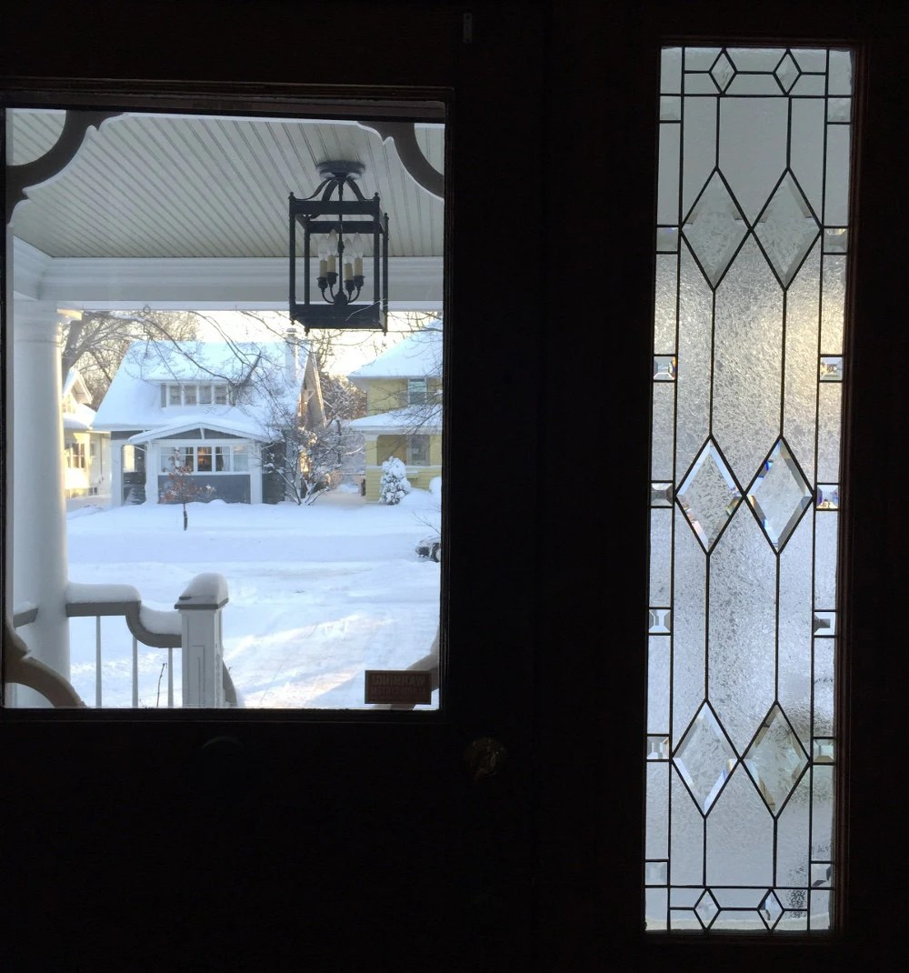 Custom Sidelight Stained Glass Panel Victoran Style