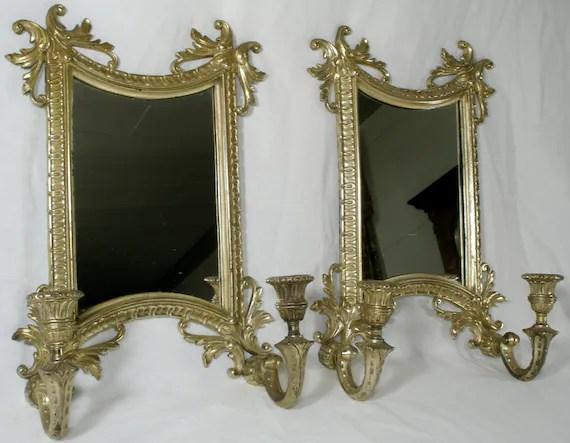 Victorian Mirror Candle Wall Sconces Steampunk Decor