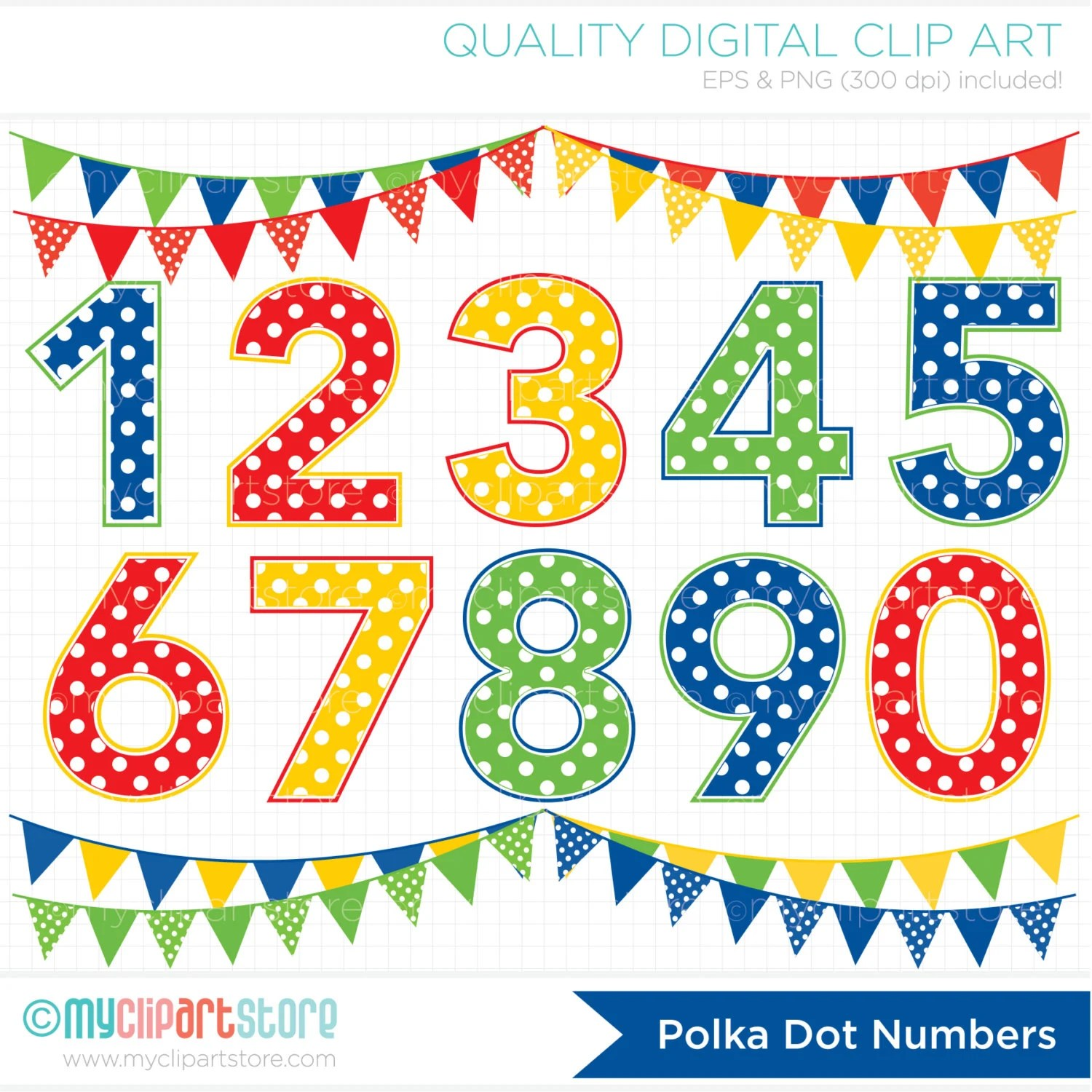 Alpha Primary Colored Polka Dot Numbers Boy Or Girl