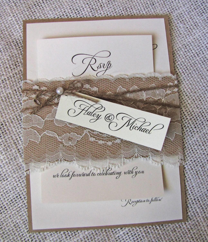 Homemade Country Wedding Invitations