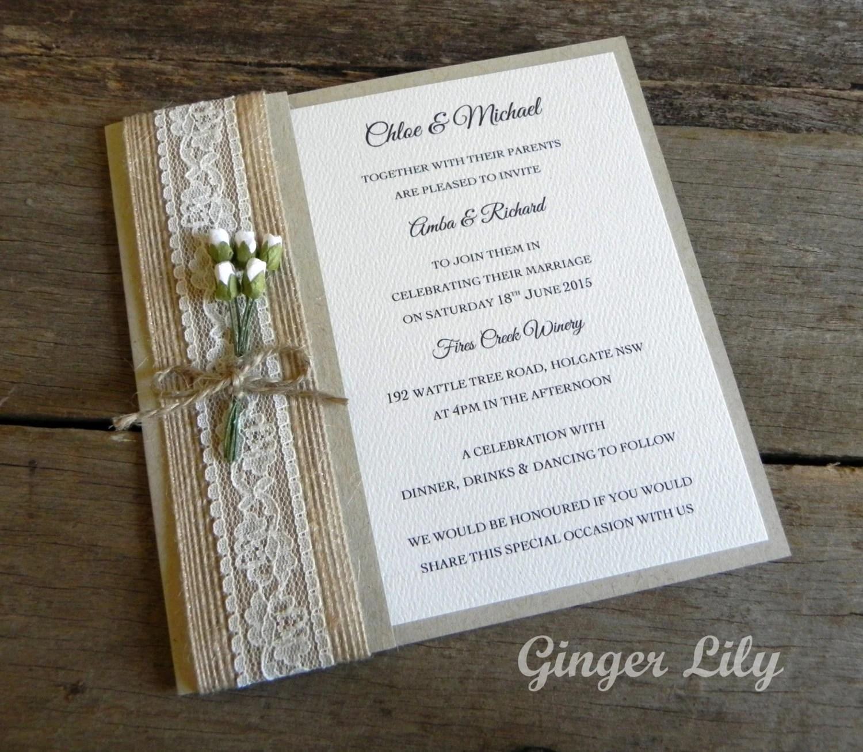 Rustic Invitation Kits